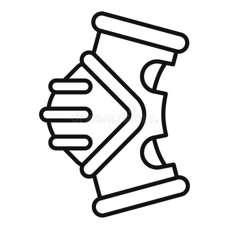 Tillbaka ljus symbol för cykel, översiktsstil stock illustrationer