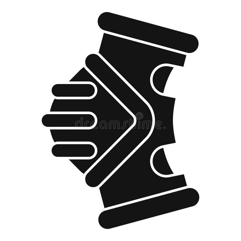 Tillbaka ljus symbol för cykel, enkel stil stock illustrationer