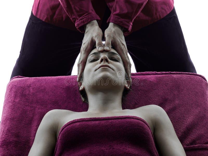 Tillbaka massageterapikontur royaltyfria bilder