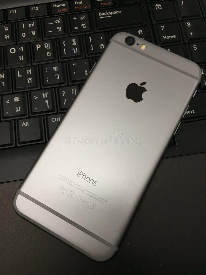 tillbaka sida för iPhone 6 royaltyfri fotografi