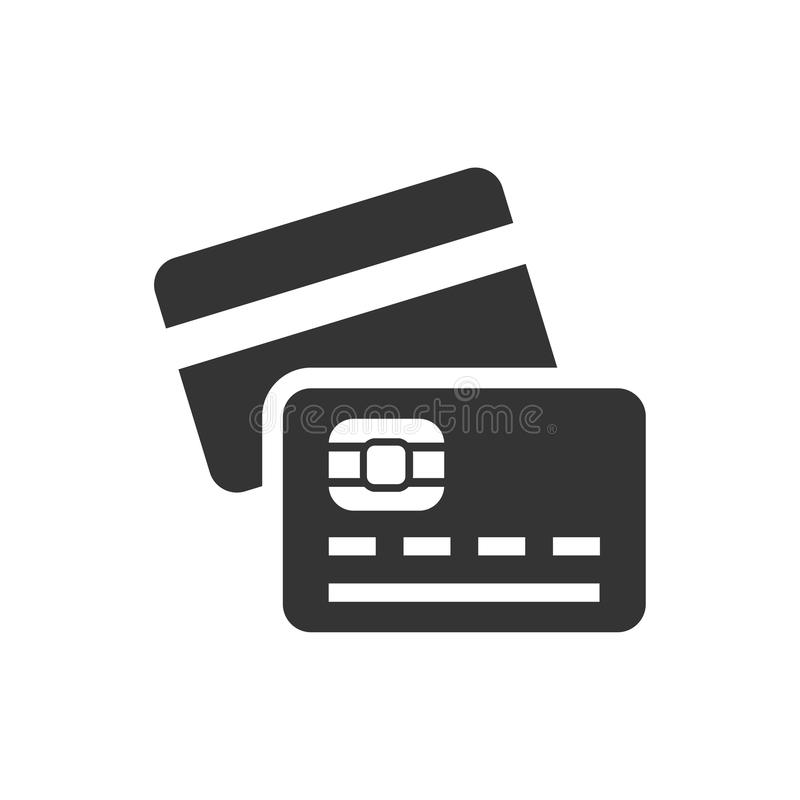 tillbaka sida för symbol för kortkrediteringsframdel stock illustrationer