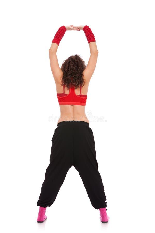 Tillbaka sikt av en modern dansare