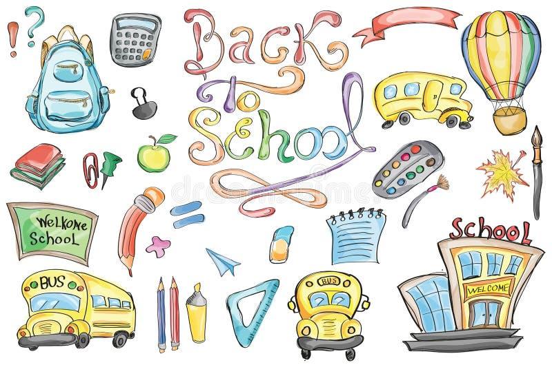tillbaka skola som ska välkomnas vektor illustrationer