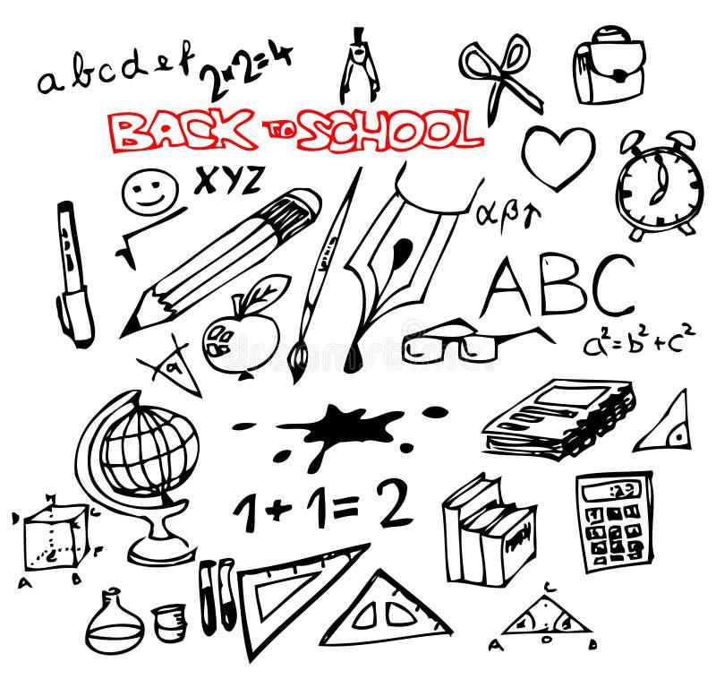 tillbaka skola till stock illustrationer