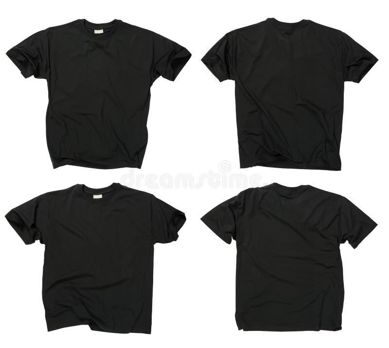 tillbaka svarta blanka främre skjortor t arkivbilder