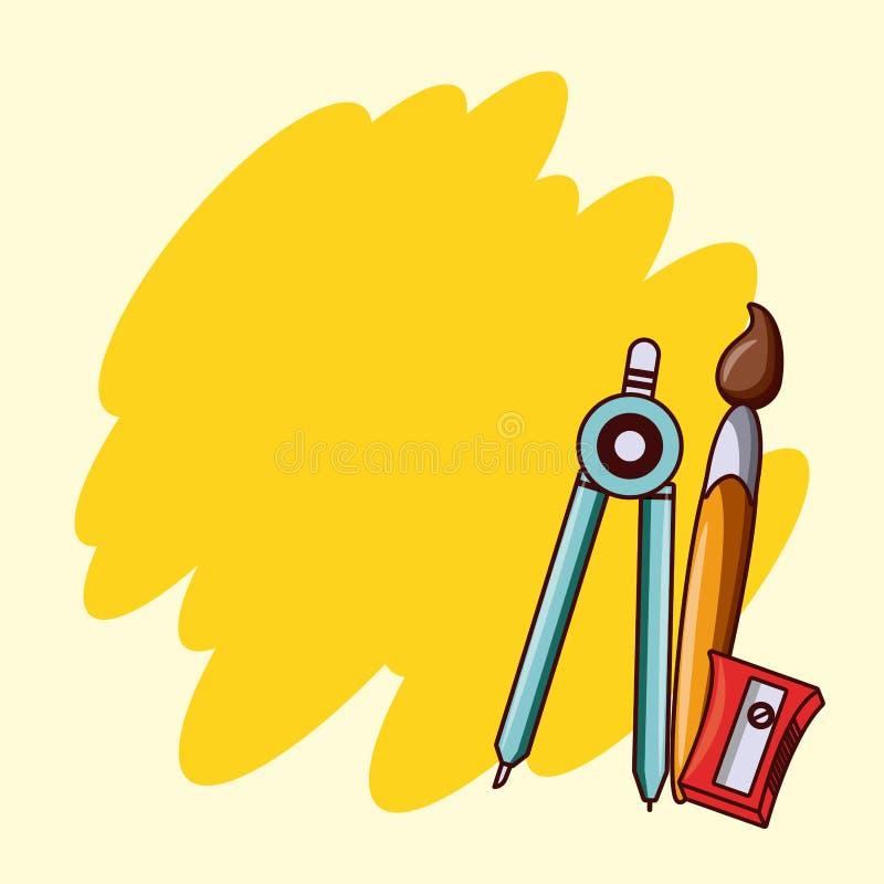 Tillbaka till det tomma kortet för skola royaltyfri illustrationer