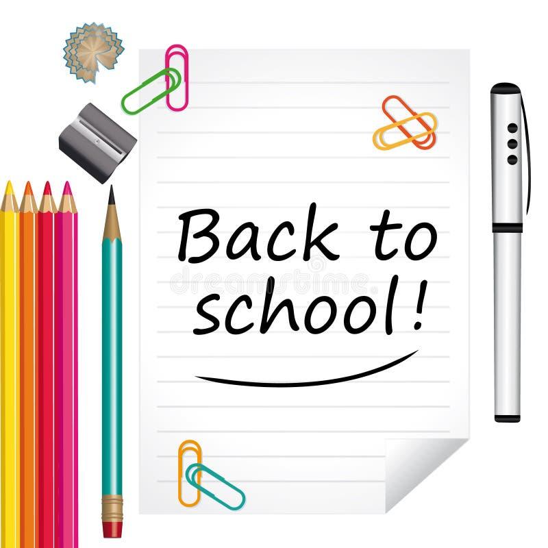 Tillbaka till skola! Färgrik illustration stock illustrationer