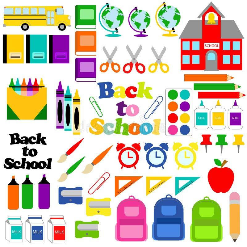 Tillbaka till skola, objekt 56 royaltyfria bilder