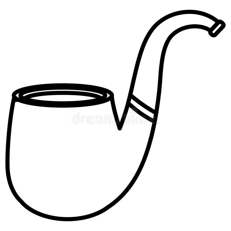 Tillbehör för stil för rökrörhipster vektor illustrationer