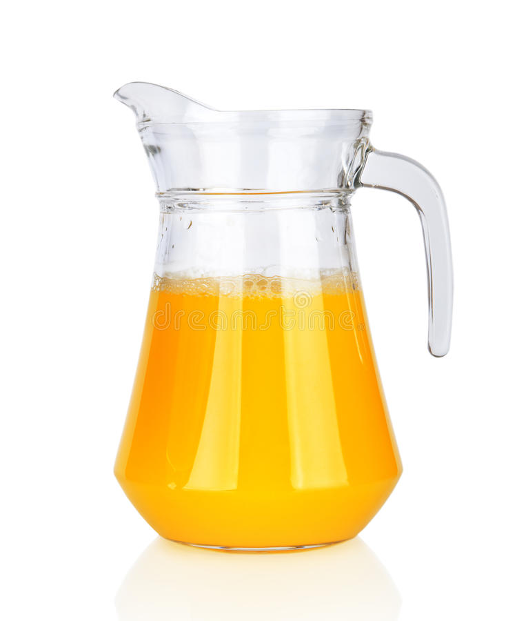 Tillbringare av orange fruktsaft   royaltyfri foto