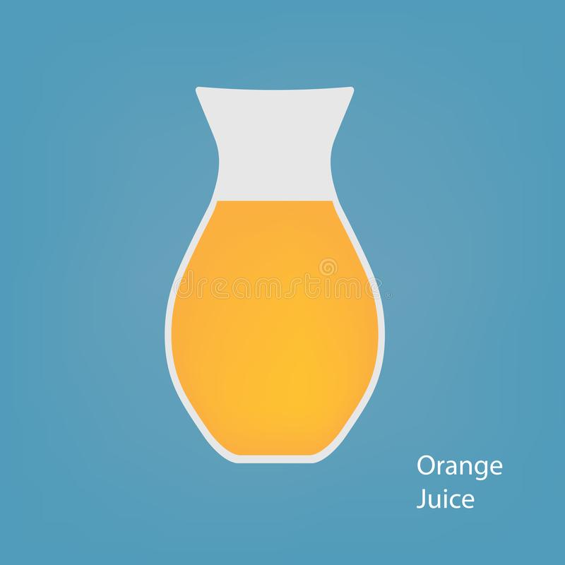 Tillbringare med orange fruktsaft stock illustrationer