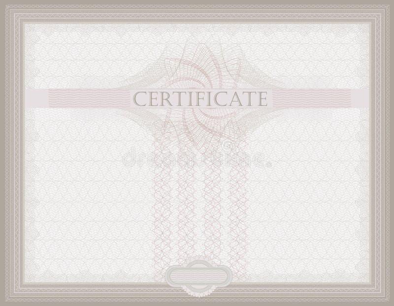 tilldela intyg horisontalguilloche royaltyfri illustrationer