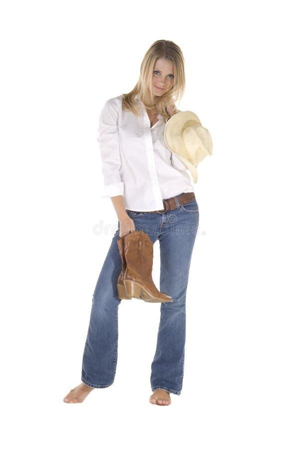 tillfällig cowgirl royaltyfria foton