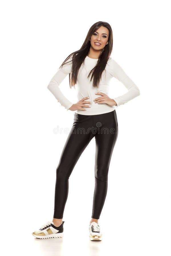 tillfällig kvinna arkivfoto