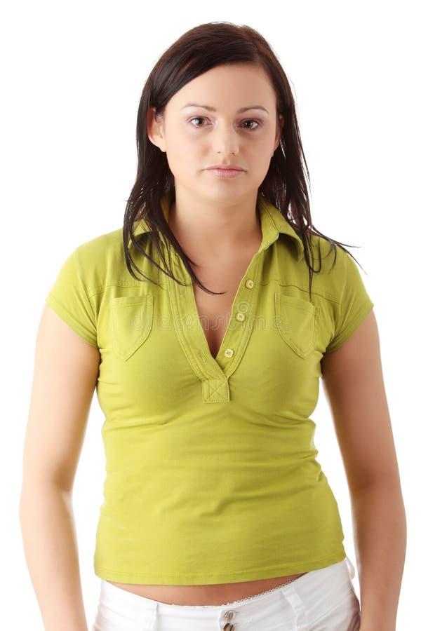 tillfällig kvinna arkivbild