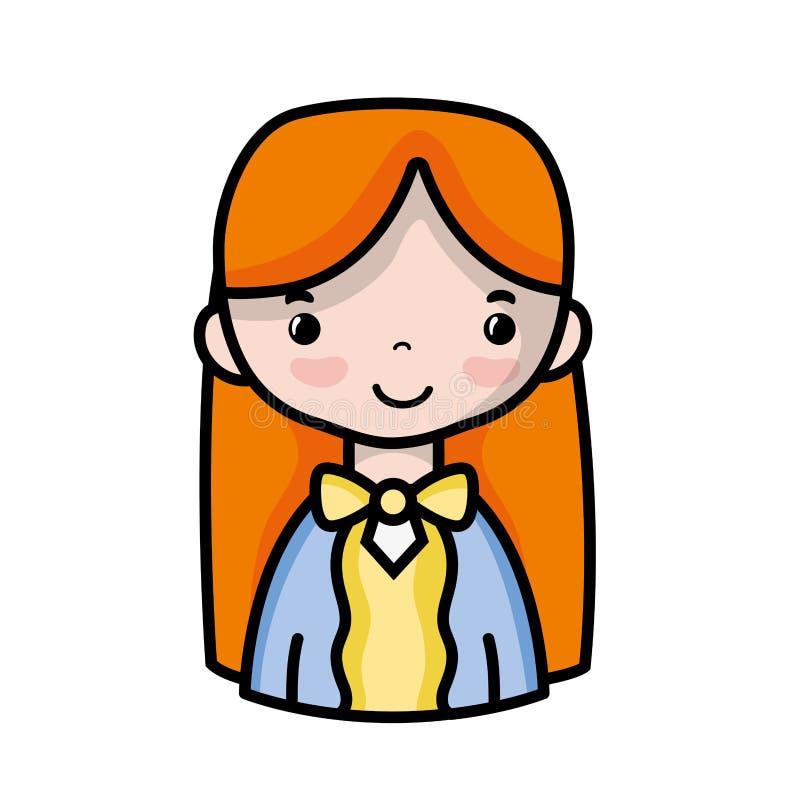 Tillfällig kvinna med frisyr- och blusdesign royaltyfri illustrationer