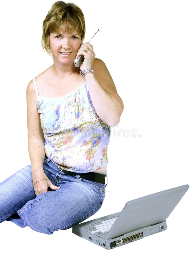 tillfällig kvinnaworking royaltyfria foton
