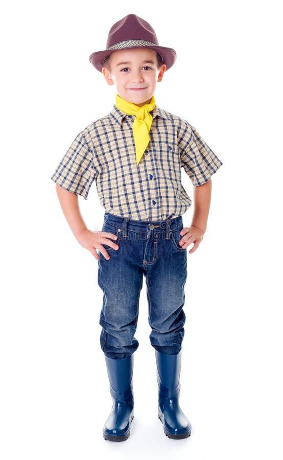 Tillfällig liten cowboy royaltyfri bild