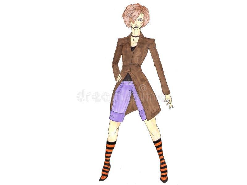 Download Tillfällig rolig modell stock illustrationer. Illustration av tonåring - 501847