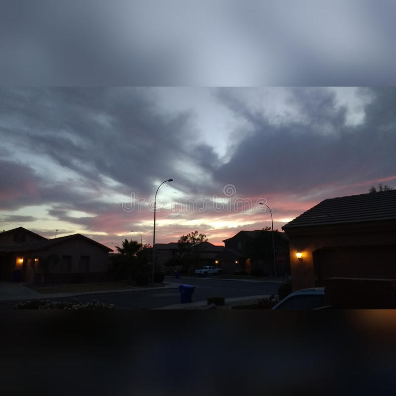 Tillfällig solnedgång royaltyfri bild