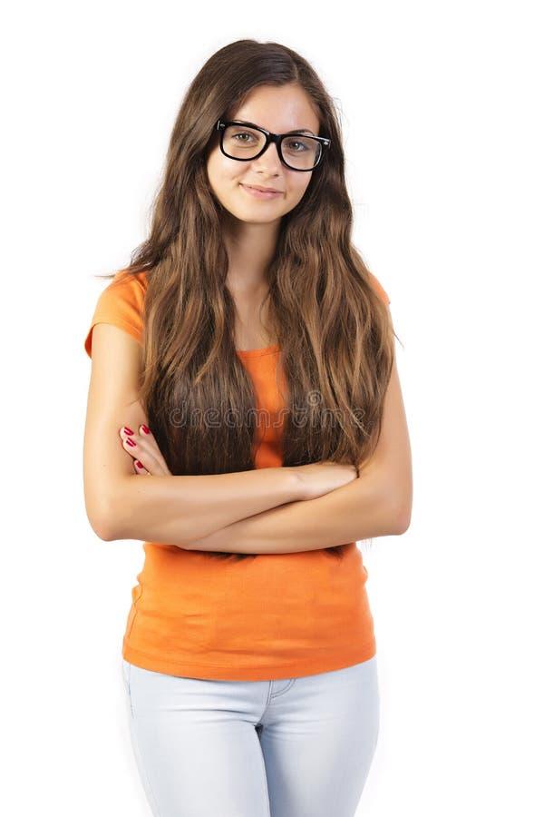 Tillfällig tonårig flicka fotografering för bildbyråer