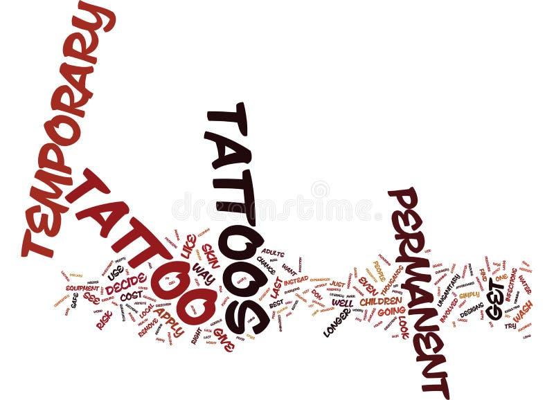 Tillfälligt begrepp för moln för ord för tatueringtextbakgrund royaltyfri illustrationer