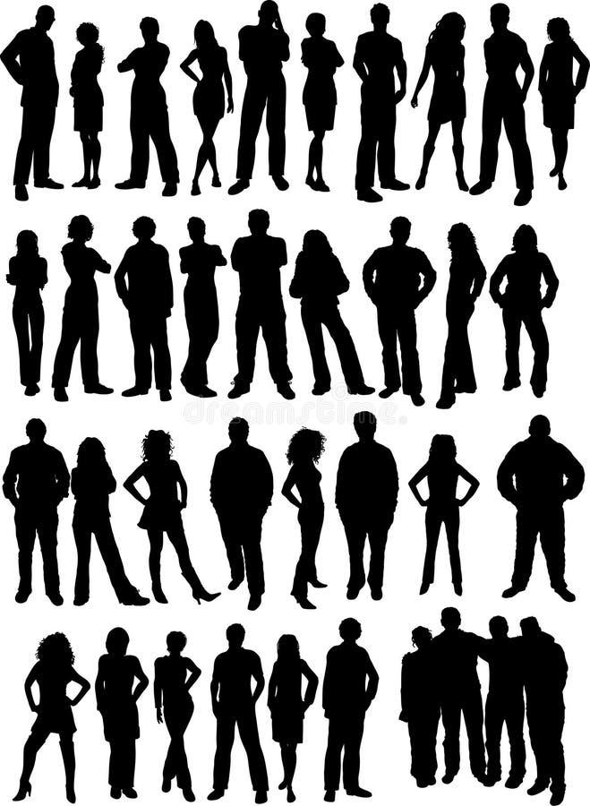 tillfälligt folk vektor illustrationer