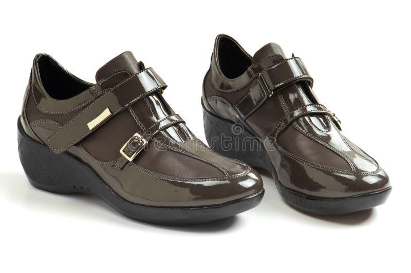 tillfälligt s shoes kvinnor arkivbilder