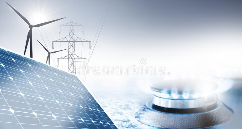 Tillförsel av energi arkivfoton