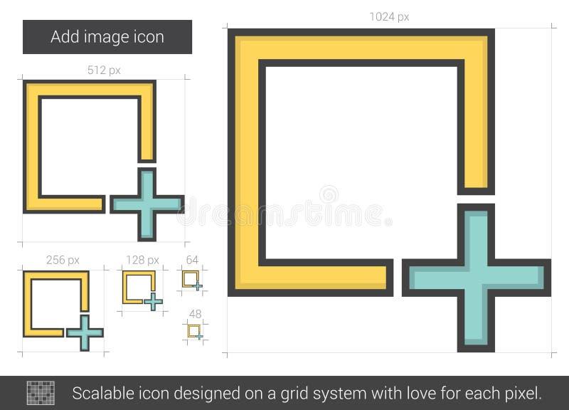 Tillfoga bildlinjen symbol vektor illustrationer
