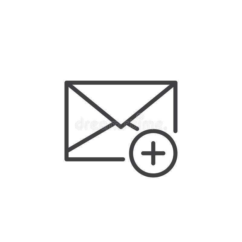 Tillfoga meddelandelinjen symbol royaltyfri illustrationer