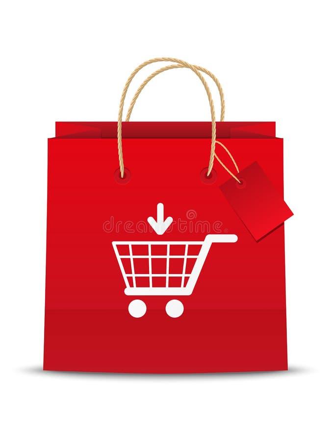 Shoping symbol för vagn vektor illustrationer