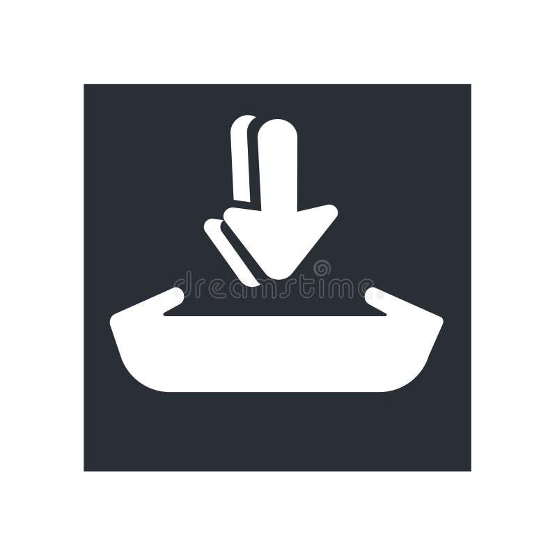 Tillfoga till tecknet för vagnssymbolsvektorn, och symbolet som isoleras på vit bakgrund, tillfogar till vagnslogobegreppet vektor illustrationer