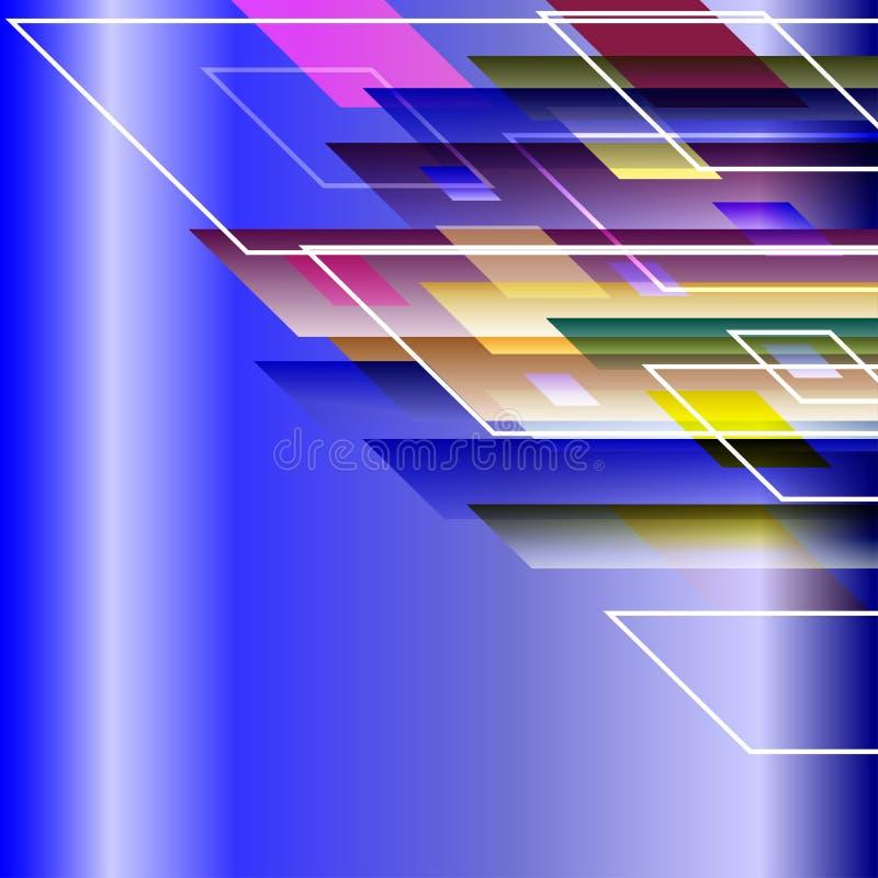 Tillfogar geometrisk orienteringsbakgrund för den abstrakta designen med kopieringsutrymme text också vektor för coreldrawillustr royaltyfri illustrationer