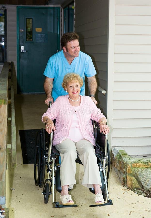 tillgänglig home sjukvård arkivbild
