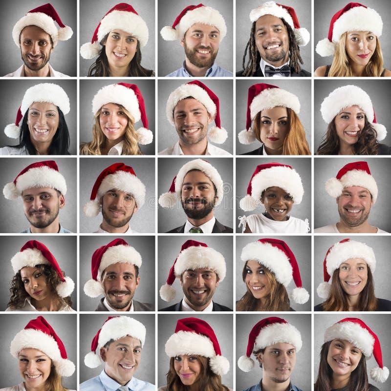 tillgänglig julcollagevektor arkivbilder