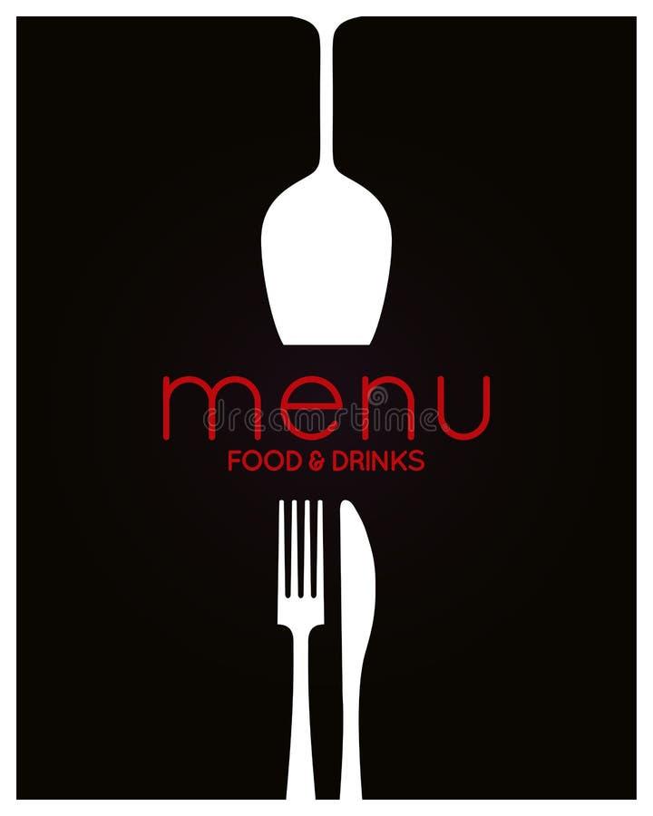 tillgänglig vektor för designmenyrestaurang Mat- och drinkbakgrund stock illustrationer
