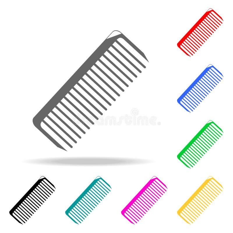 tillgänglig vektor för hårkammappsymbol Barber Element mång- kulöra symboler för mobila begrepps- och rengöringsdukapps Symbol fö stock illustrationer