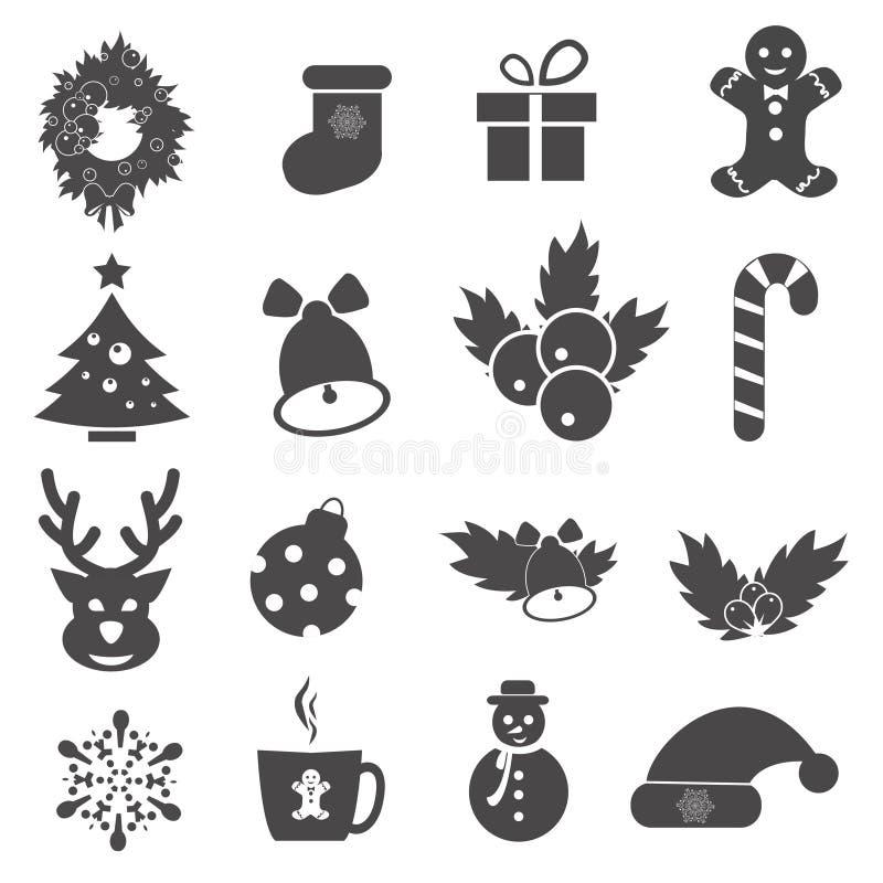 tillgänglig vektor för juleps-symboler Varje symbol är en enkel objektsammansättningbana Simples serie royaltyfri illustrationer