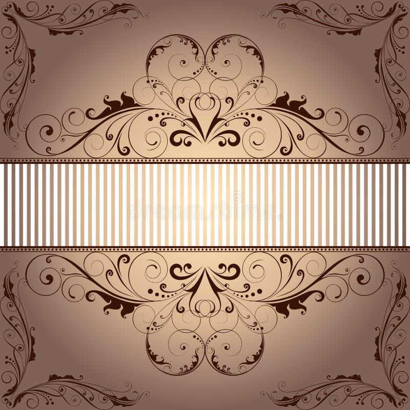tillgänglig vektor för ram för bakgrundsmapp blom- stock illustrationer