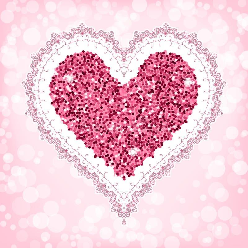 tillgänglig vektor för valentiner för kortdagmapp stock illustrationer