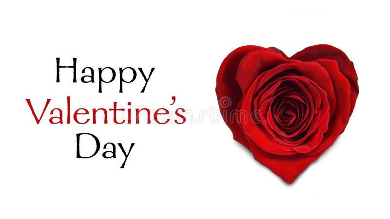 tillgänglig vektor för valentiner för kortdagmapp Röd ros i form av hjärta som isoleras på vit royaltyfria foton