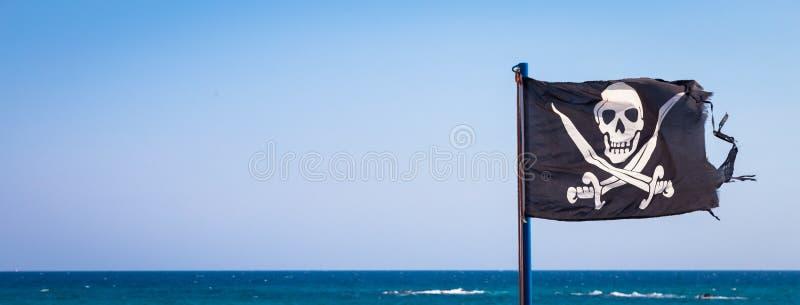 tillgängligt flaggaexponeringsglas piratkopierar stilvektorn arkivbild