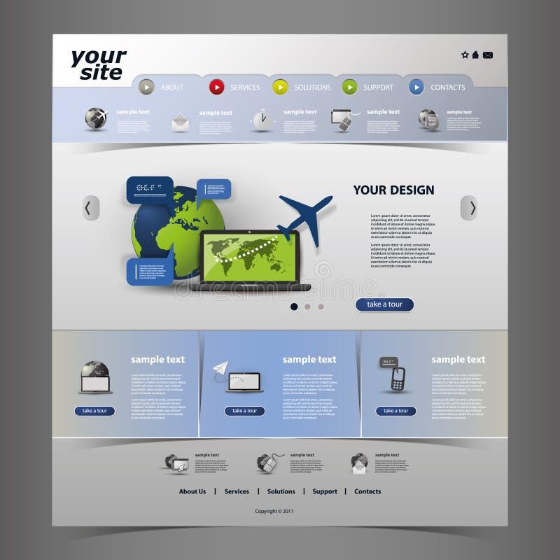 tillgängligt formaterar båda eps8 jpeg-mallwebsite royaltyfri illustrationer