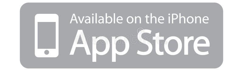 Tillgängligt på den App Store Apple iphonen vektor illustrationer