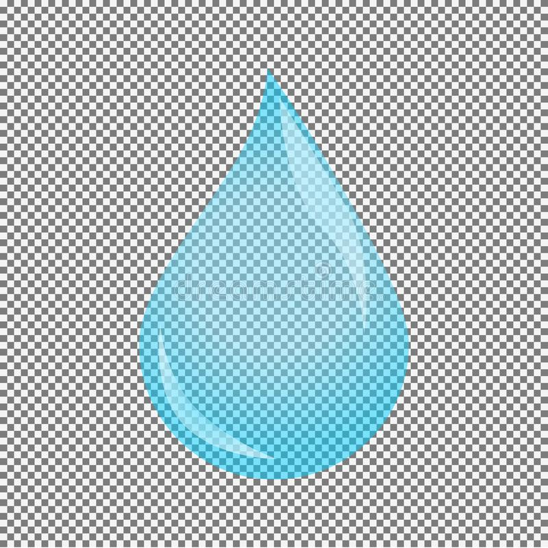 tillgängligt vatten för droppillustrationvektor royaltyfri illustrationer