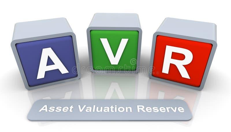 tillgångreservvaluation stock illustrationer