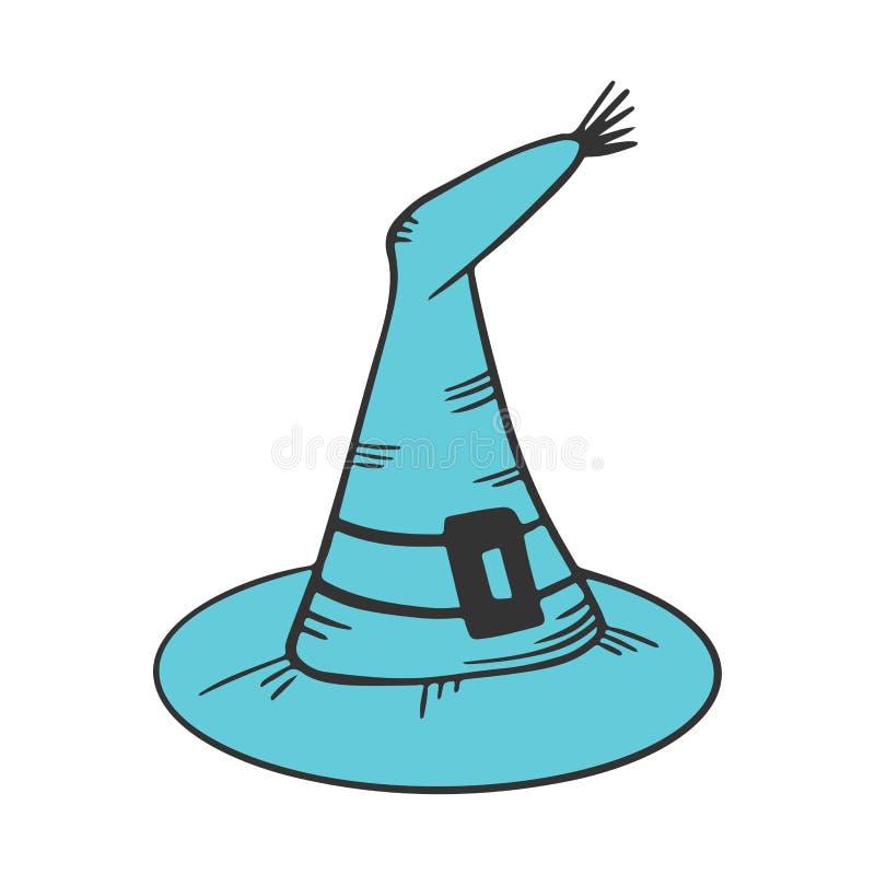 tillg?nglig h?xa f?r hattillustrationvektor Vektorbegrepp i klotter och att skissa stil royaltyfri illustrationer
