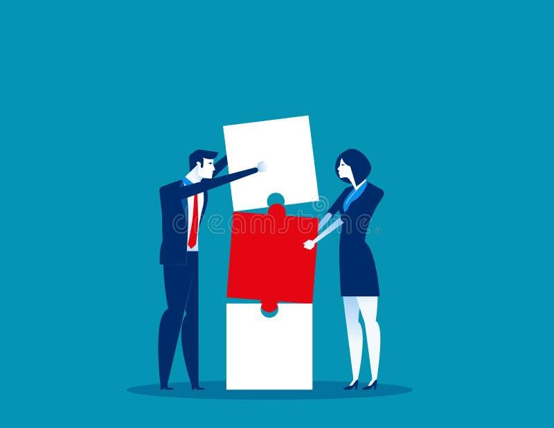 tillsammans Affärs- och partnerskaparbete som bygger anslutningsaffär Illustration f?r begreppsaff?rsvektor Plan aff?r vektor illustrationer