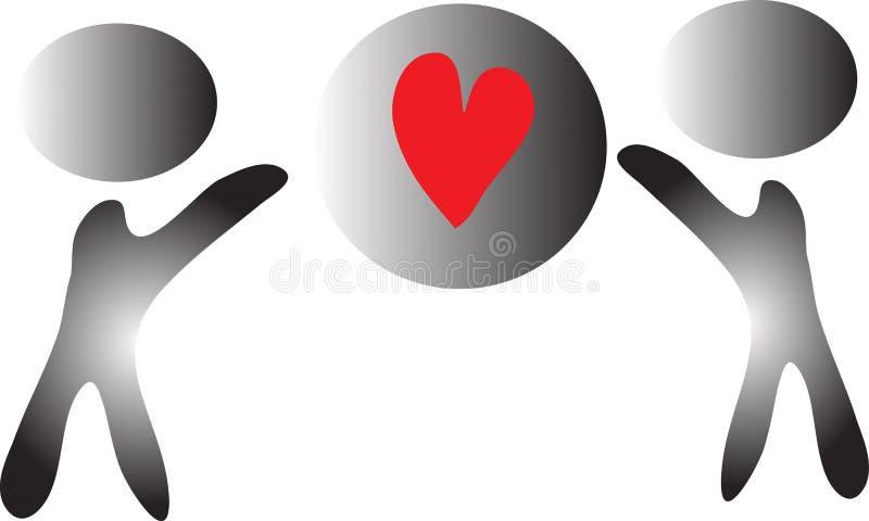 Tillsammans att realisera förälskelse och fred royaltyfri foto